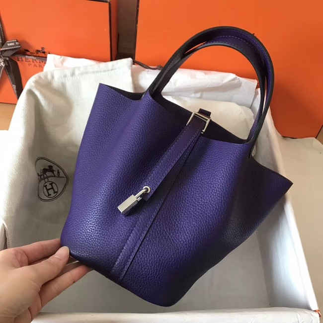 Hermes Picotin Lock PM Bags Original Leather H8688 violet