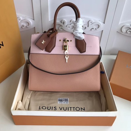 Louis Vuitton Original Leather CITY STEAMER PM M55062 Pink&Apricot