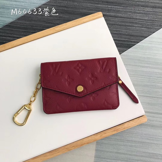 Louis Vuitton card holder N60633 purplish