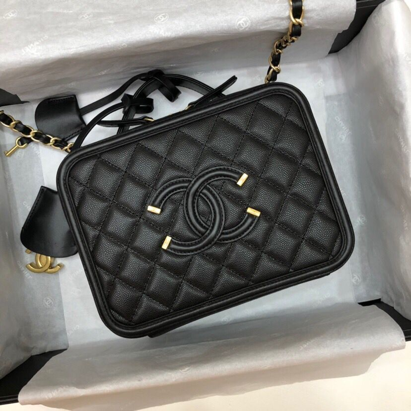 Chanel Cosmetic Bag A93343 black