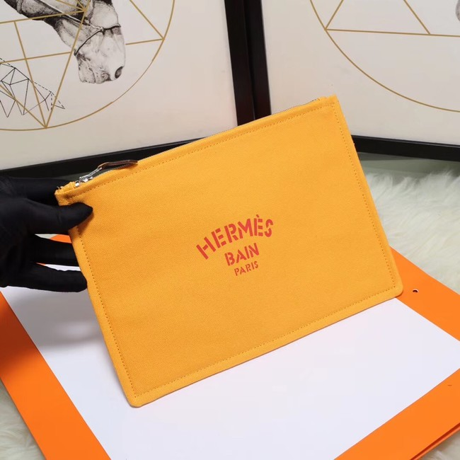 Hermes Cosmetic Bag H3700 Mango Yellow