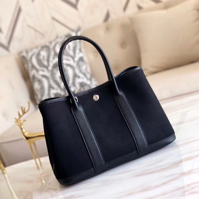 Hermes Garden Party 36cm Tote Bags Original Leather A3698 Black