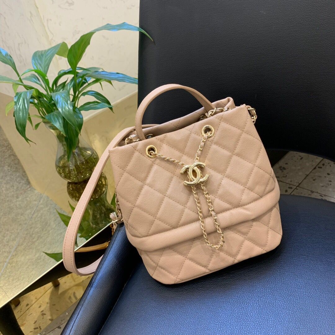Chanel Original Leather Bag C5700 apricot