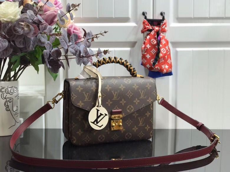 Louis vuitton original Monogram Canvas POCHETTE METIS M43984 Wine