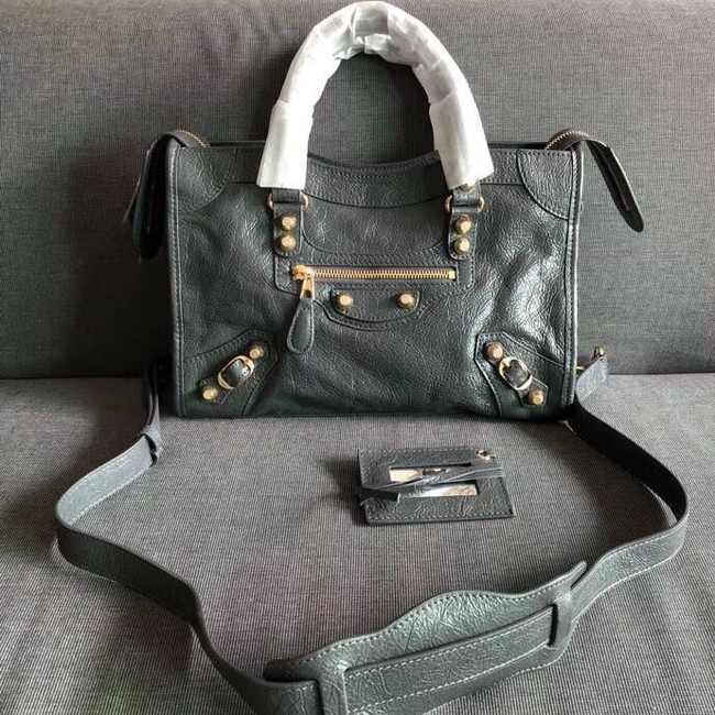 Balenciaga The City Handbag Calf leather 382567 grey