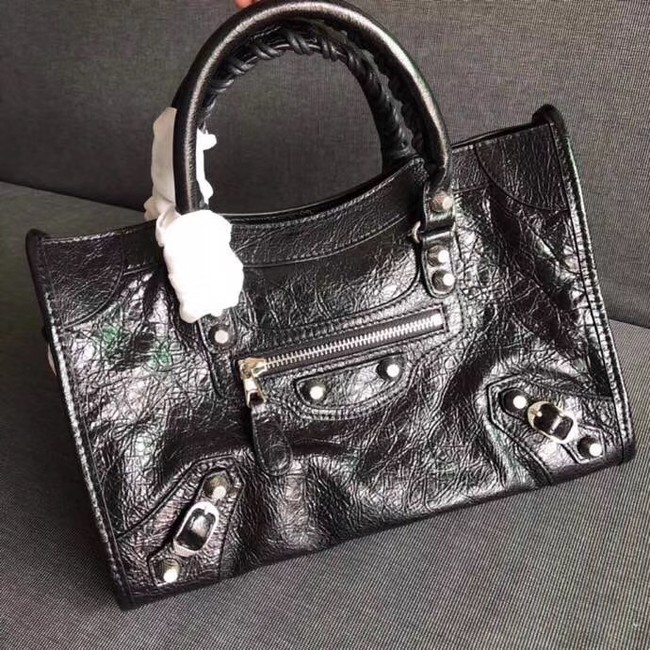 Balenciaga The City Handbag Calf leather 382568 black
