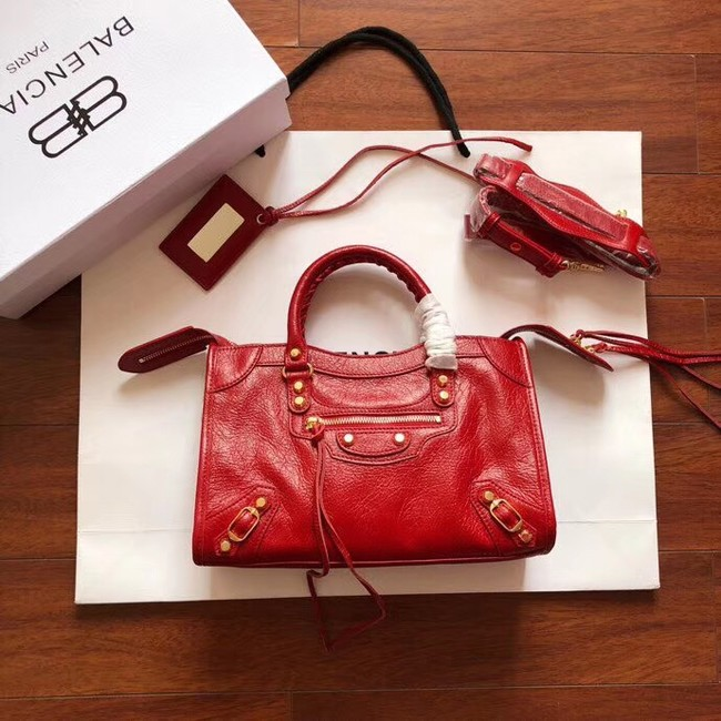 Balenciaga The City Handbag Calf leather 382568 red