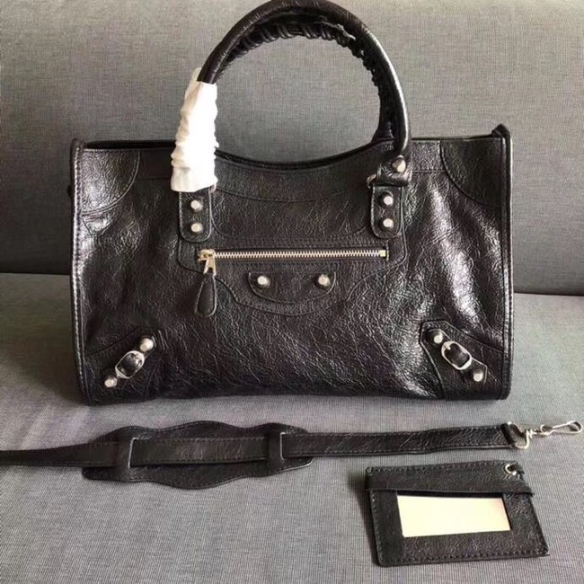 Balenciaga The City Handbag Calf leather 382569 black