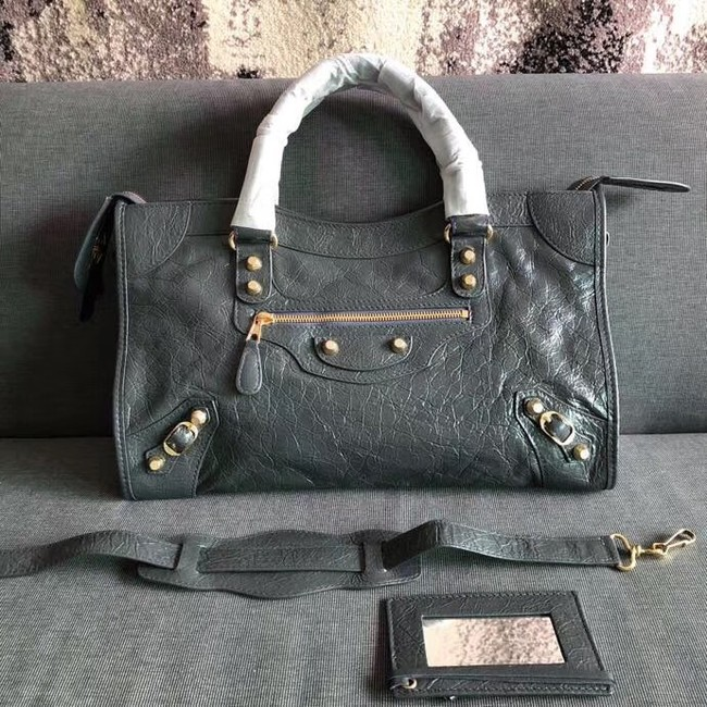 Balenciaga The City Handbag Calf leather 382569 grey