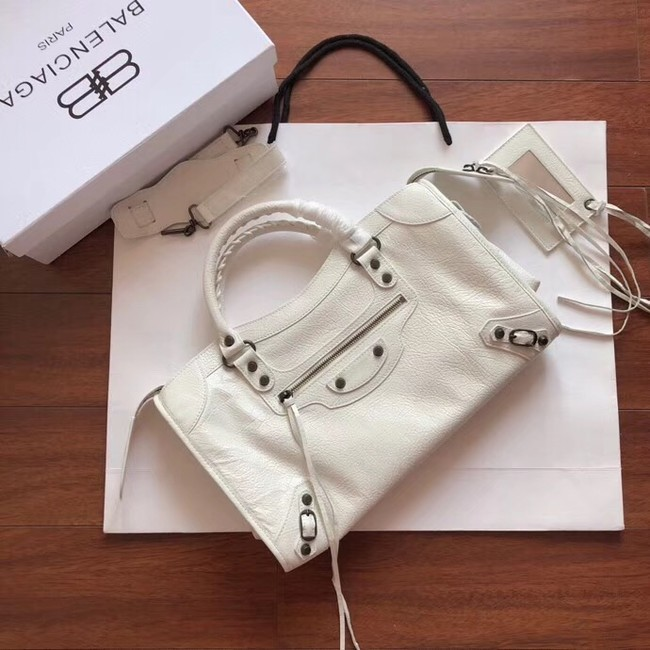 Balenciaga The City Handbag Calf leather 382569 white