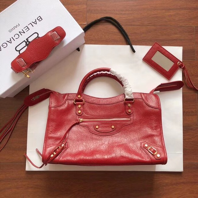 Balenciaga The City Handbag Calf leather 382569 red