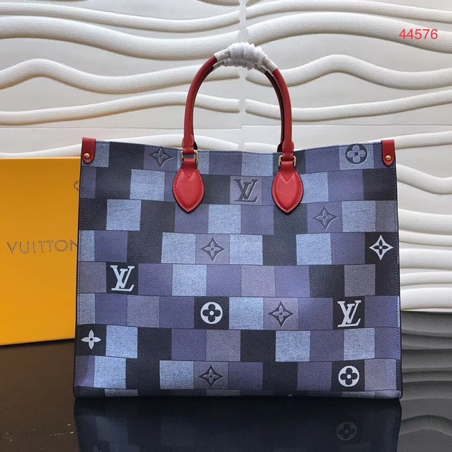 Louis Vuitton Original ONTHEGO Shopping Bag M44576 Blue