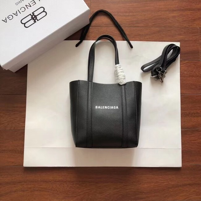 Balenciaga Original Leather Mini Shopper Bag 6696 Black