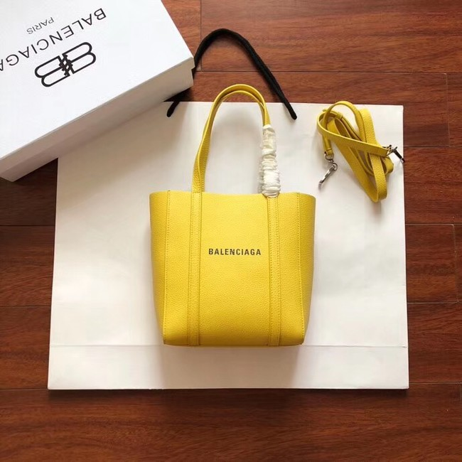 Balenciaga Original Leather Mini Shopper Bag 6696 Yellow