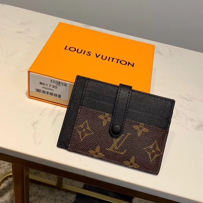 Louis Vuitton Monogram Canvas Card Holder M61730 Black