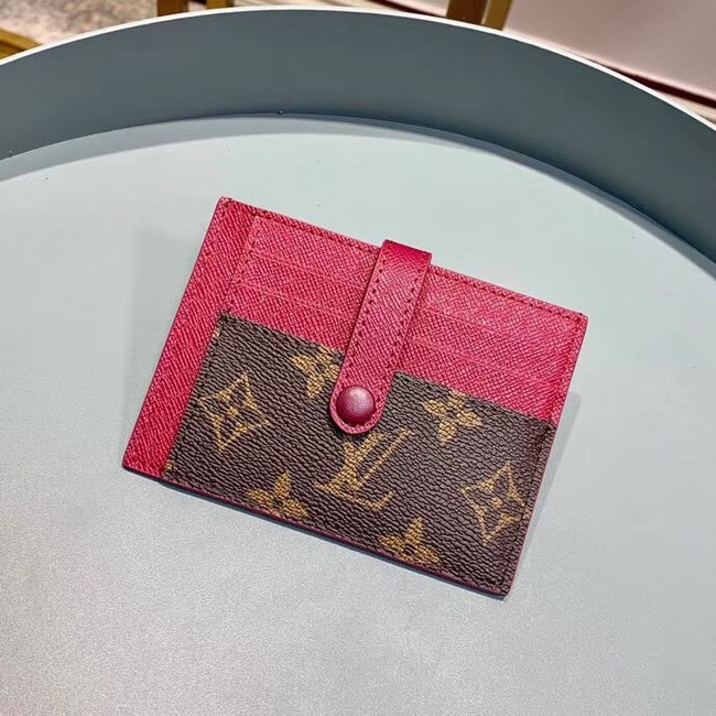 Louis Vuitton Monogram Canvas Card Holder M61730 Purple
