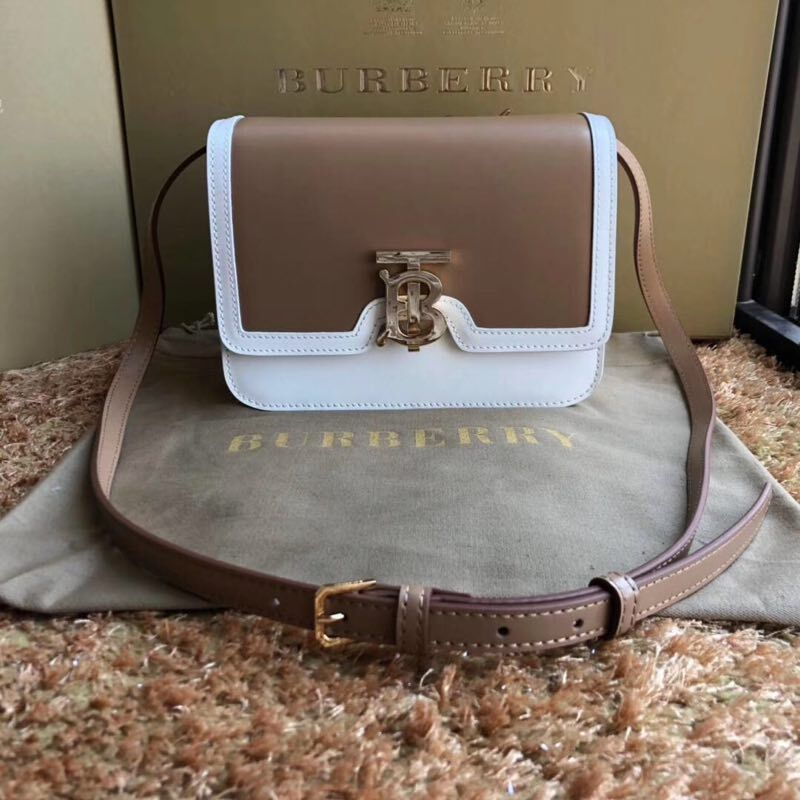 BurBerry Original Leather Shoulder Bag BU55686 Brown
