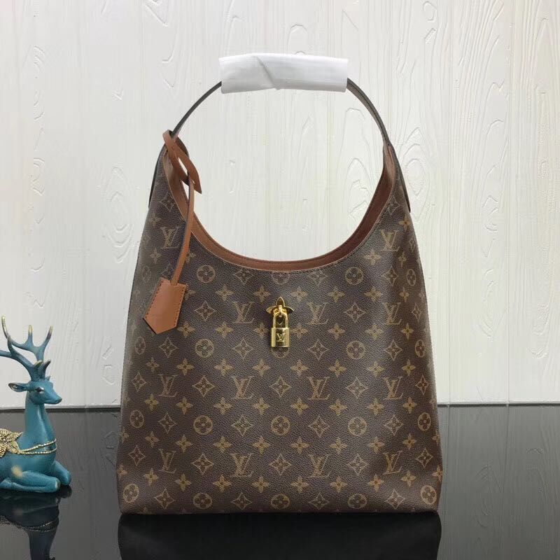 Louis Vuitton Monogram Canvas Top Handle Bag 43976 Brown