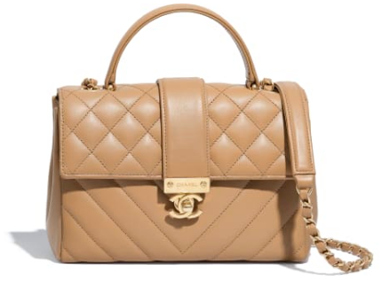 Chanel Calfskin & Gold-Tone Metal AS0804 apricot