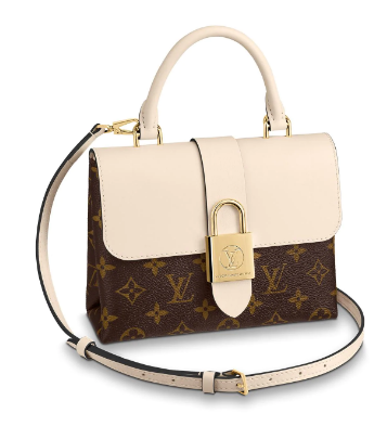 Louis Vuitton Original Leather LOCKY BB M44653 cream