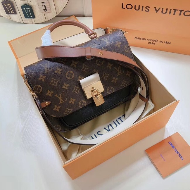 Louis Vuitton Monogram Canvas Original Leather VAUGIRARD M44354 black