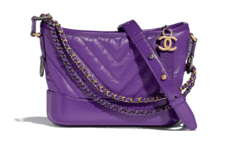 Chanel gabrielle small hobo bag A91810 purple