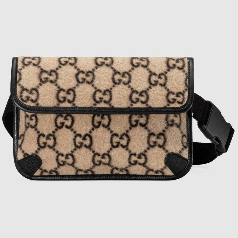 Gucci GG wool waist bag 598181 black