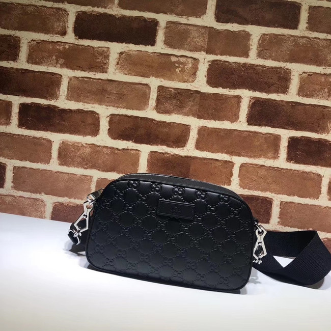 Gucci GG Original Leather  Messenger Bag 574886 black