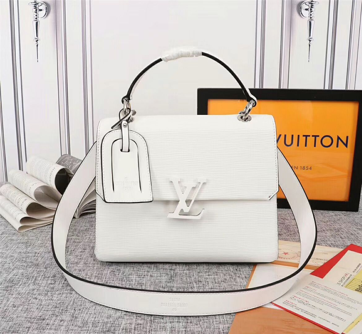 Louis Vuitton Original Epi Leather Grenelle Small Tote Bag M53694 White