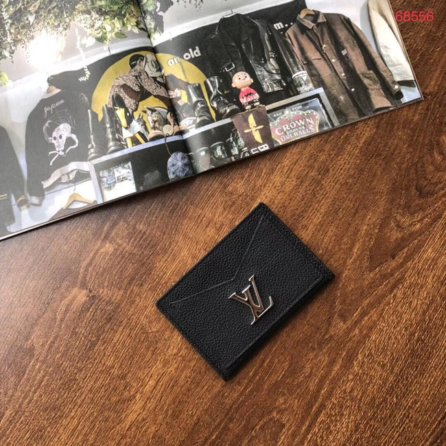 Louis vuitton original LOCKME CARD HOLDER M68555 black