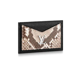 Louis vuitton original LOCKME CARD HOLDER N97001 black