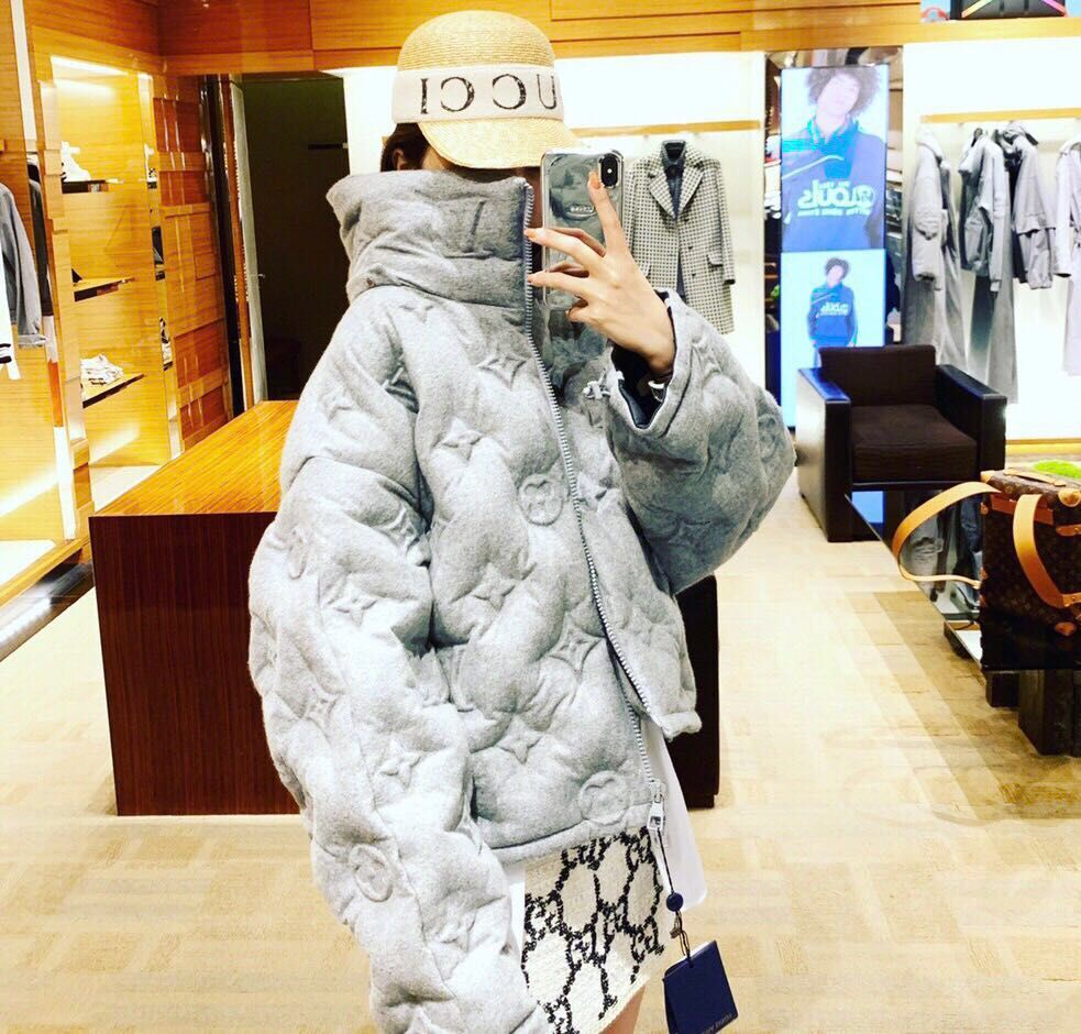 Louis Vuitton Top Quality Fashion Down Coat LV8520 Gray