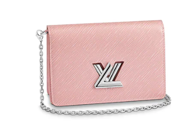 Louis Vuitton TWIST BELT CHAIN WALLET M68559 pink
