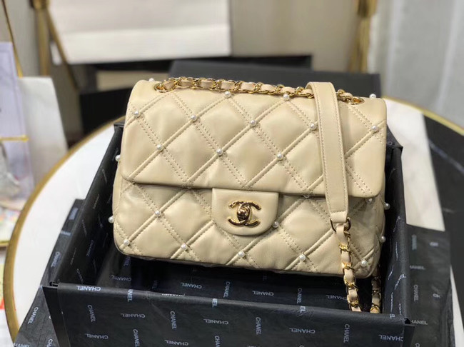 Chanel flap bag AS1202 apricot