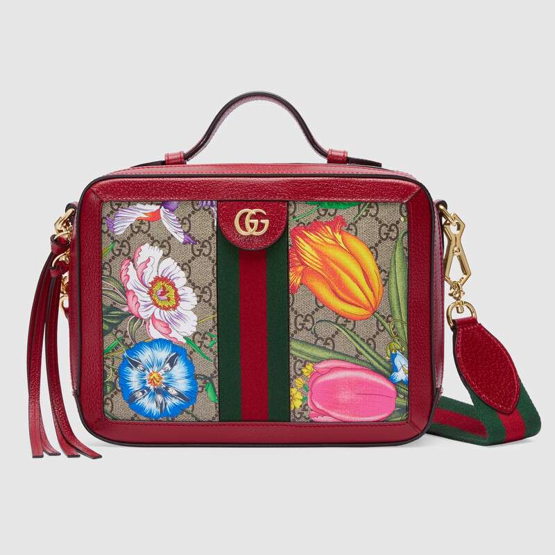 Gucci Ophidia GG Flora small shoulder bag 550622 red