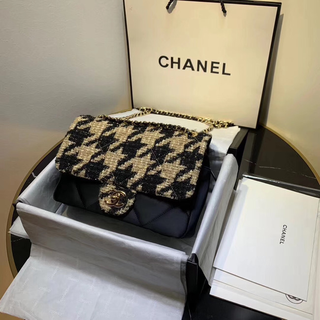 CHANEL 19 Flap Bag AS1154 Black&apricot