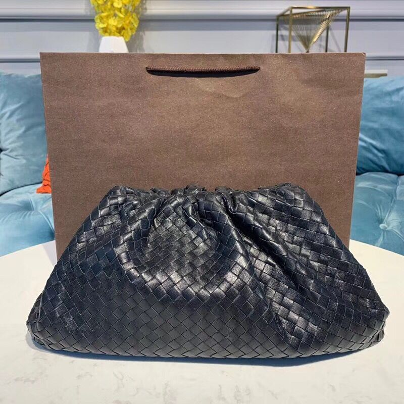 Bottega Veneta Sheepskin Weaving Original Leather BV3694 Black
