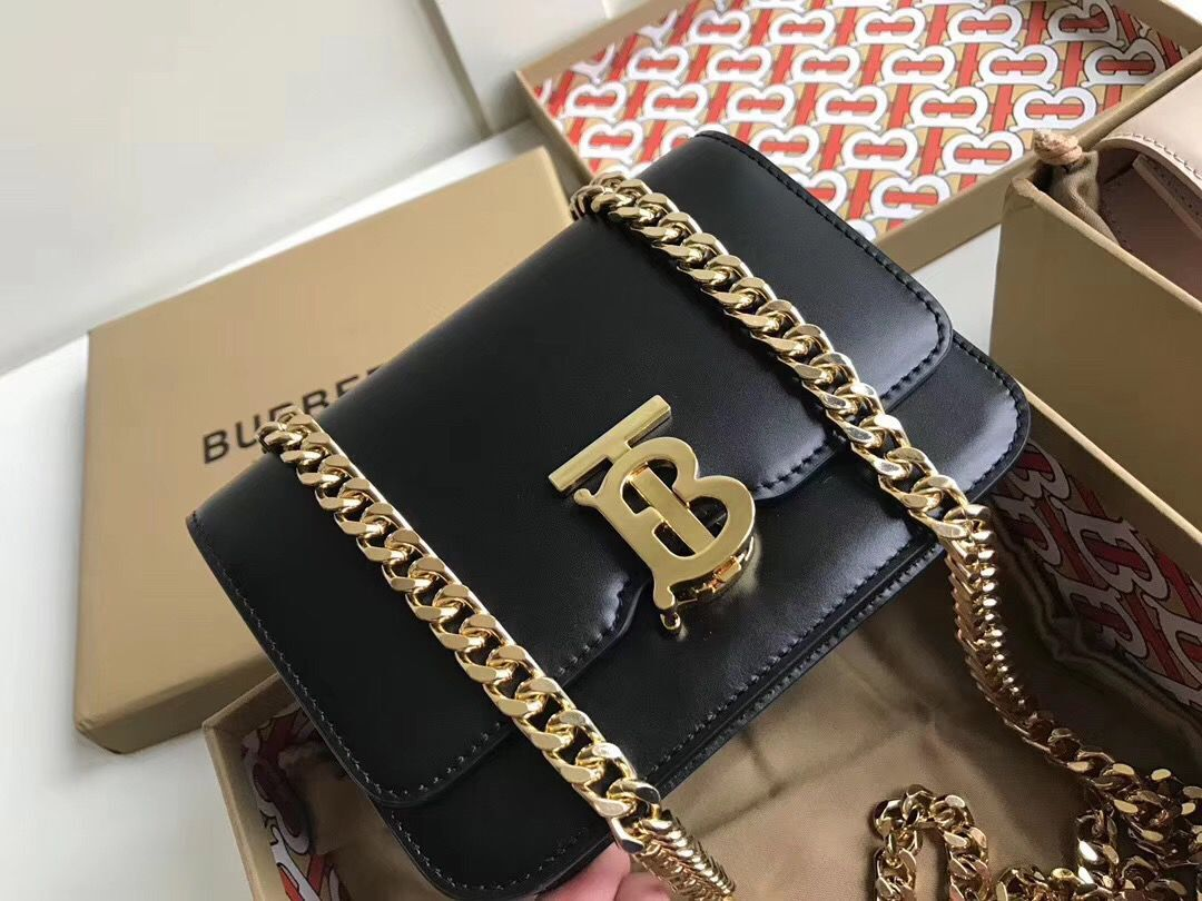 BurBerry Original Leather Thomas Belt Bag BU55698 Black