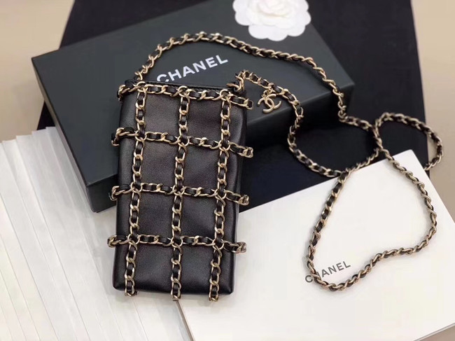 Chanel Lambskin AS1382 black