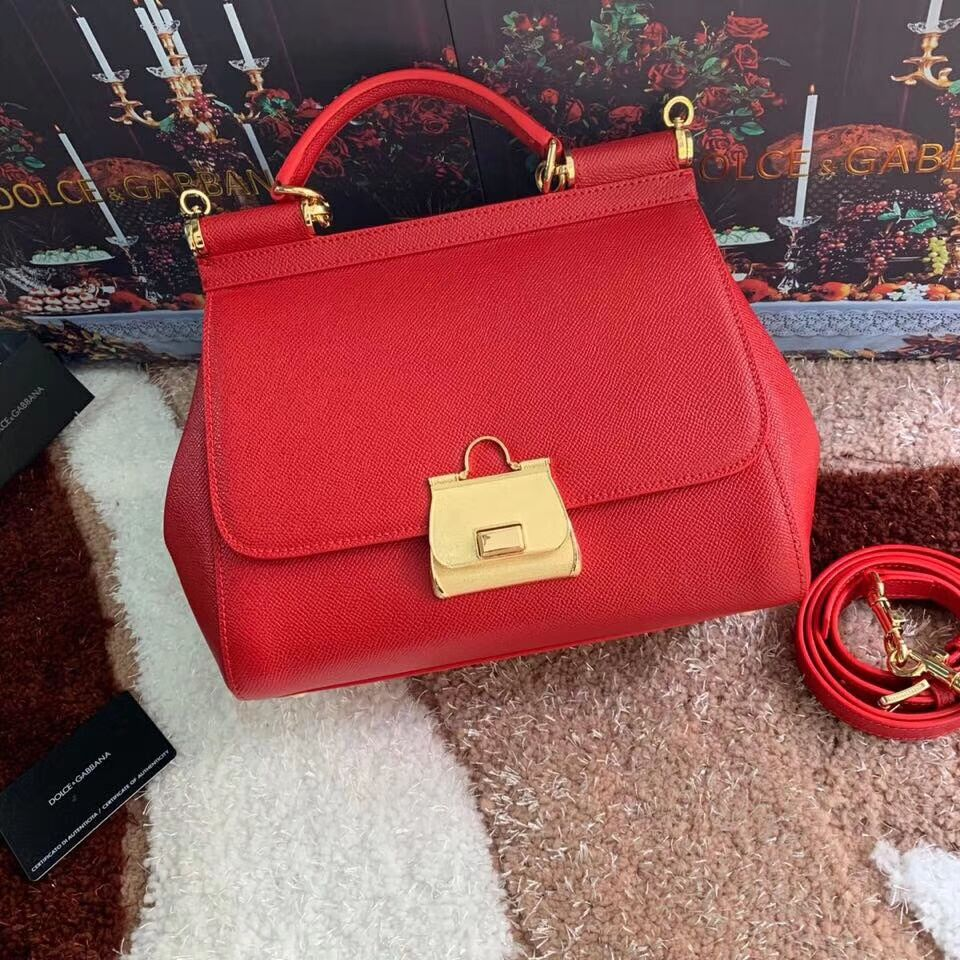 Dolce & Gabbana Origianl Leather Bag 4131 red