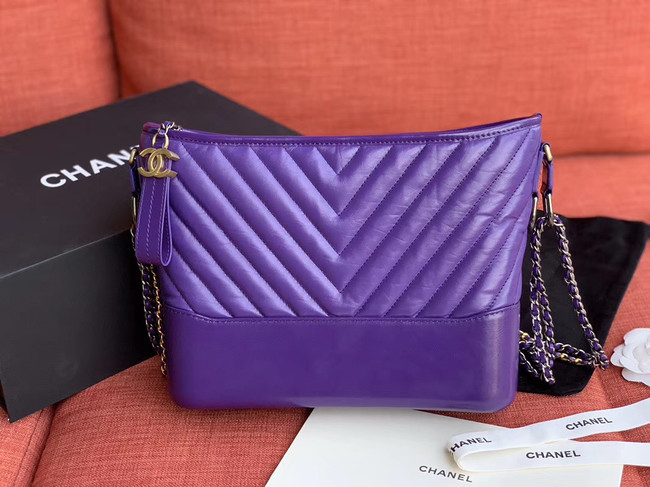 Chanel gabrielle hobo bag A93824 purple