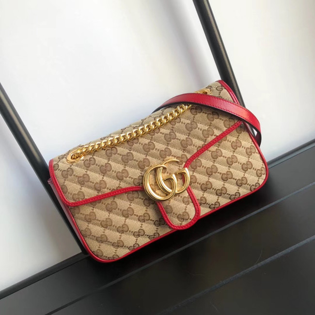 Gucci GG Marmont small shoulder bag 443497 red