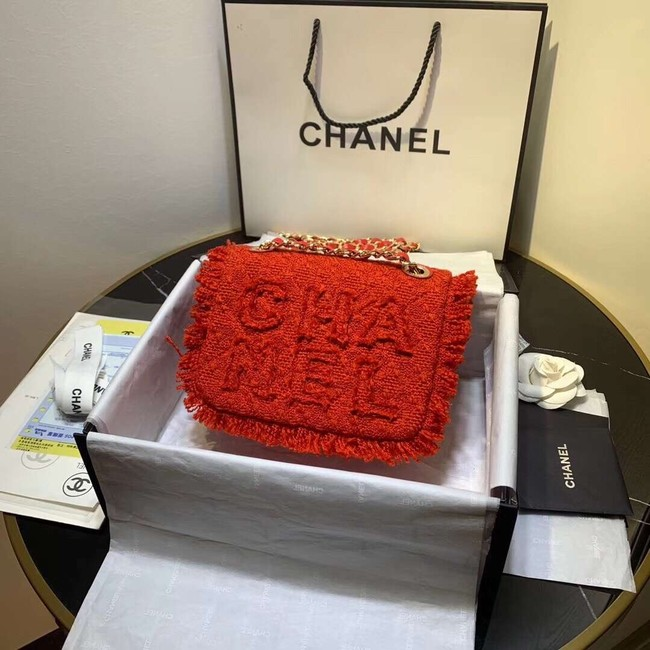 CHANEL 19 Flap Bag AS0974 red