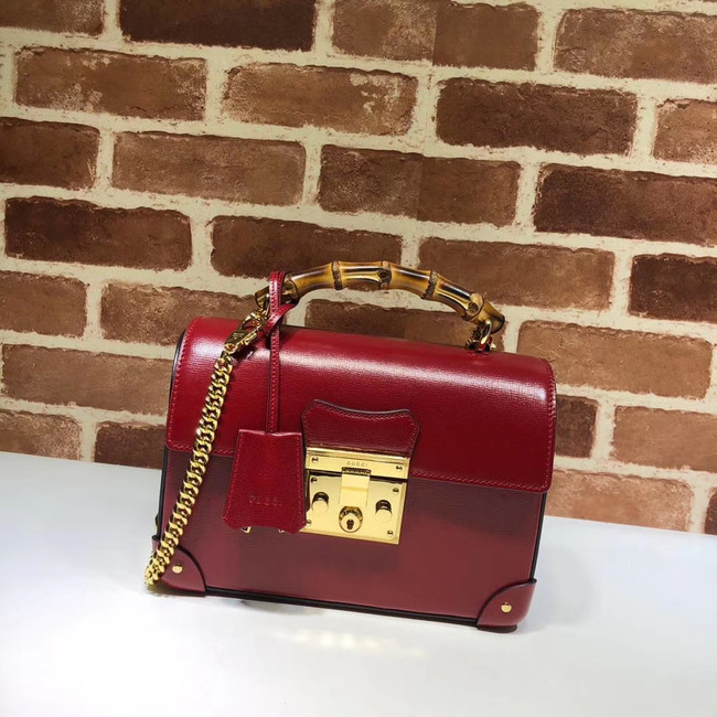 Gucci Padlock GG small bamboo shoulder Backpack 603221 red