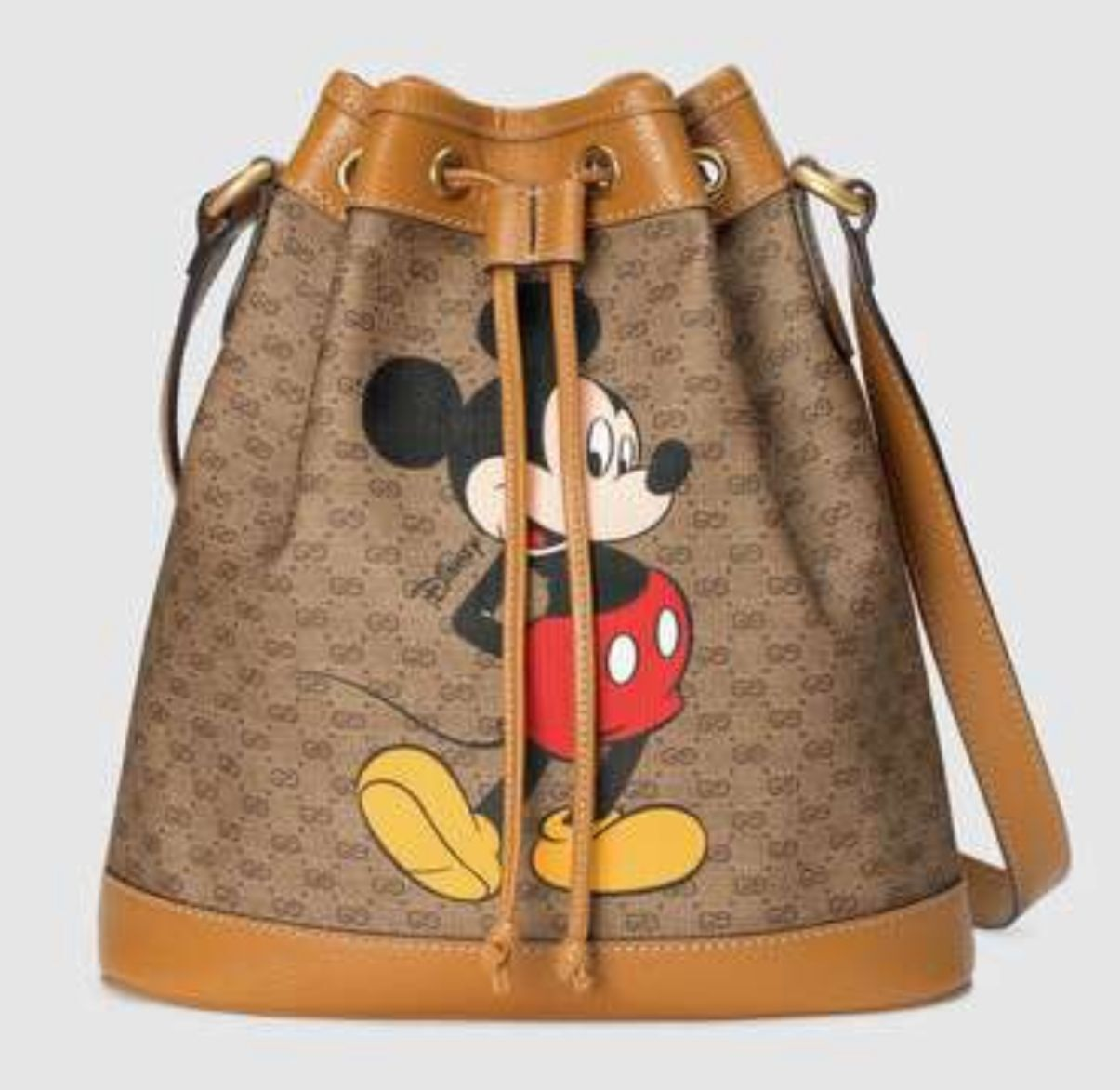 Gucci Disney x Mickey Mouse Small Bucket Bag 602691 Brown