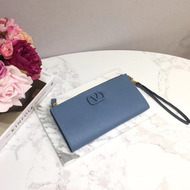 VALENTINO Origianl leather 060 Clutch bag blue