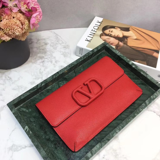 VALENTINO Origianl leather 065 Clutch bag red