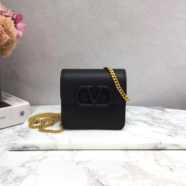 VALENTINO Origianl leather 067 Chain bag black