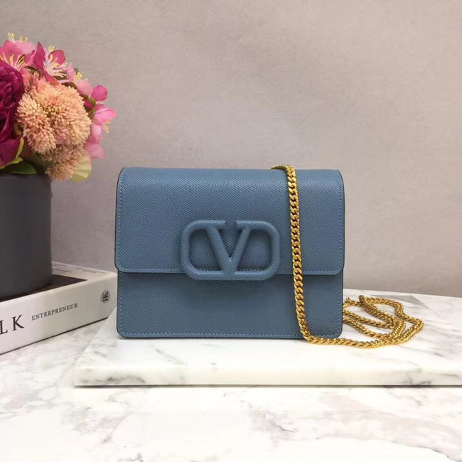 VALENTINO Origianl leather 069 Chain bag blue