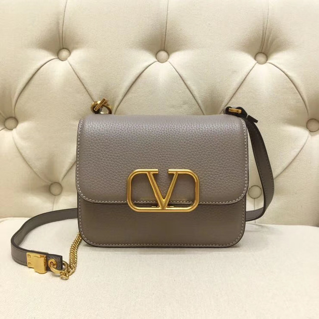 VALENTINO VLOCK Origianl leather shoulder bag 0905 grey